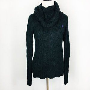 Ralph Lauren Sport Cable Knit Cowl Neck Sweater M